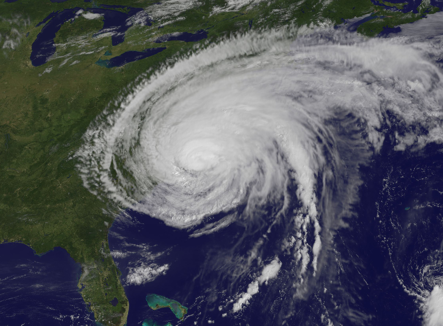 satellite view of hurricane
