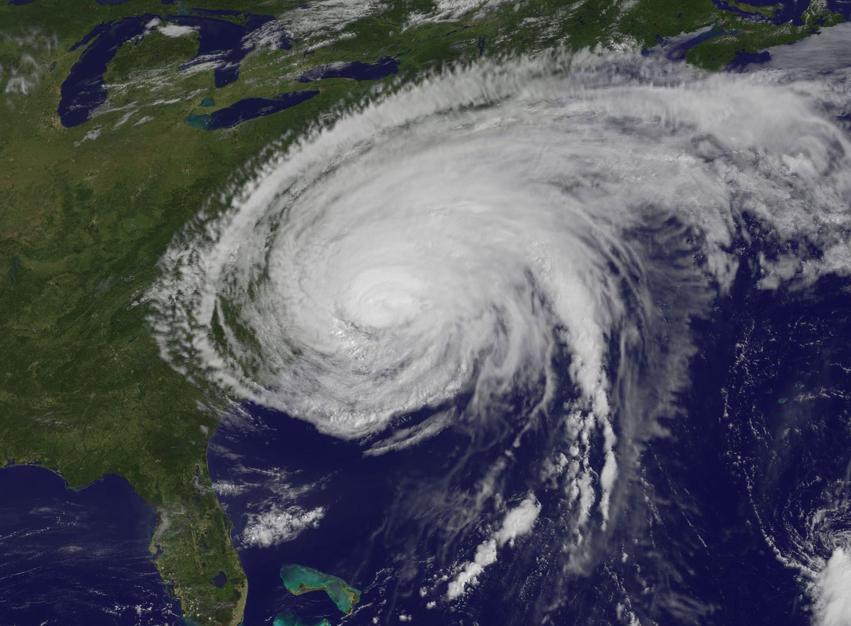 satellite view of hurricane